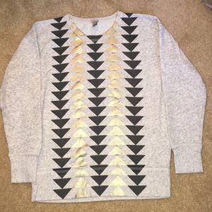 J. Crew sweatshirt triangle design Sz xs